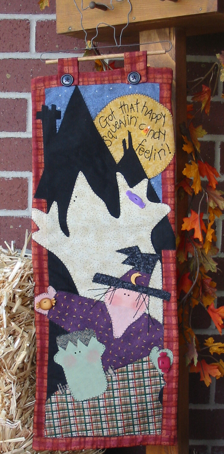 Halloween Candy Quilt Wallhanging