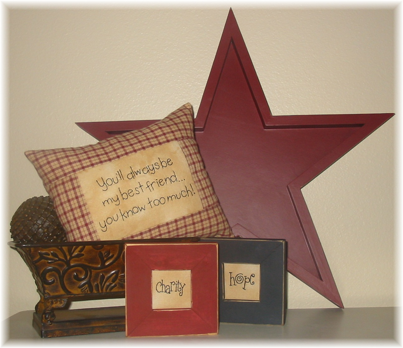 Primitive decorating painting walls for Star home designs products